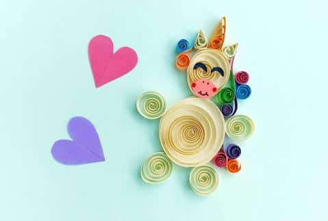 Unicorn Tail Quilling