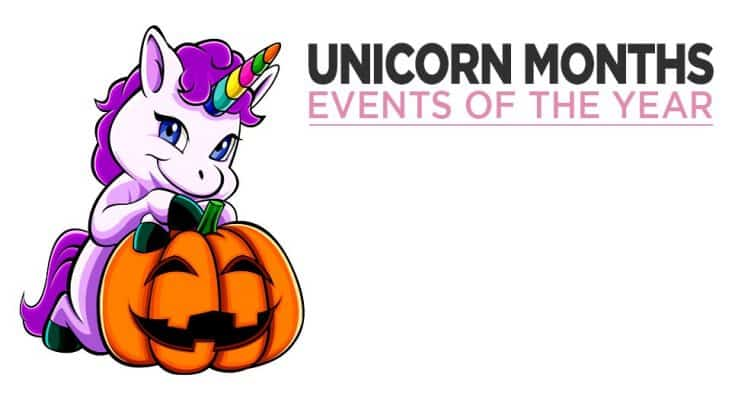 Unicorns And The Months Of The Year