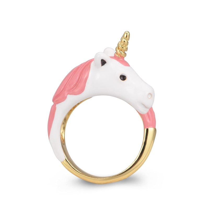 Pink And Gold Unicorn Ring