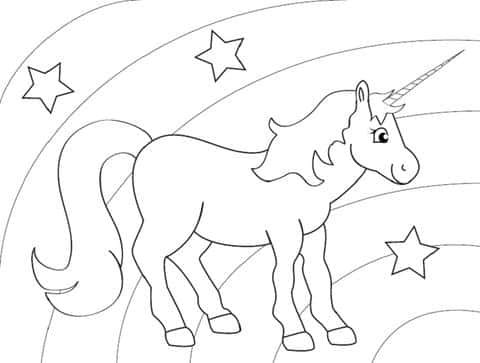 Our Unicorn Colorings For Children | Think Unicorn