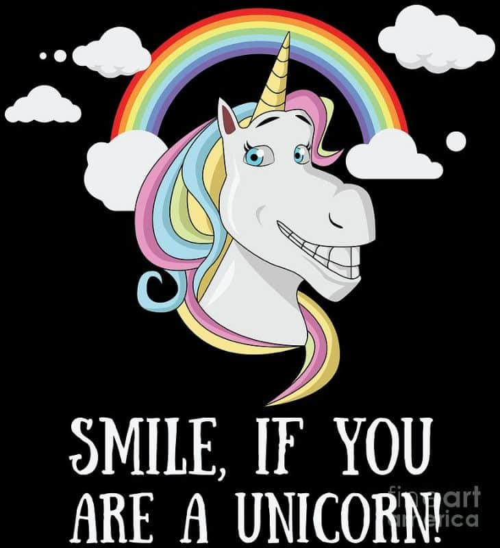 smile if you are a unicorn