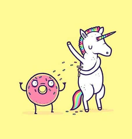 unicorn and donuts
