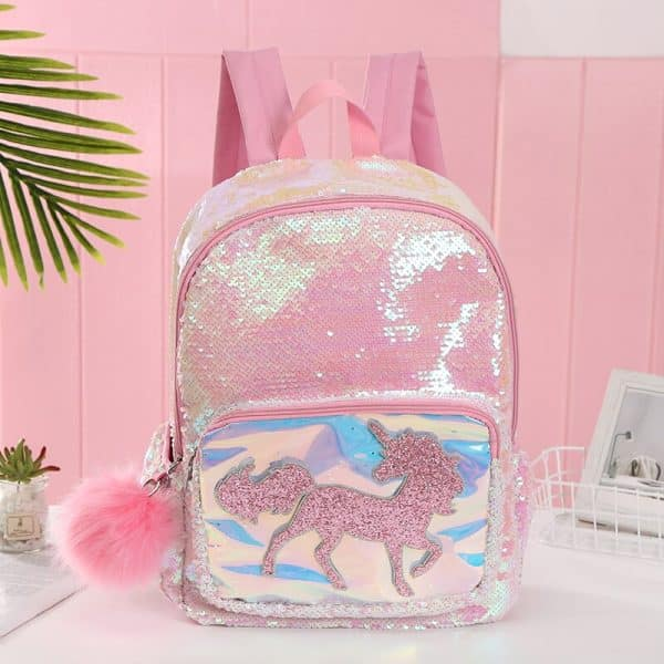 Unicorn Backpack With Sequins