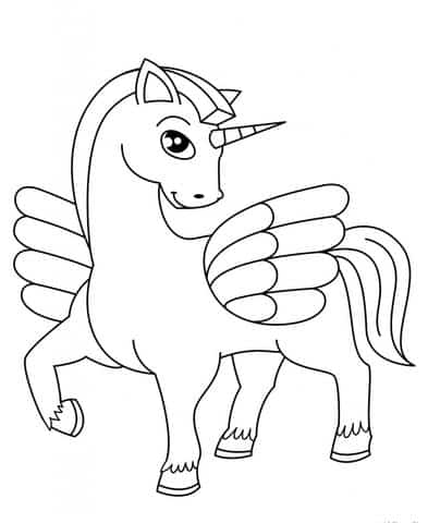 Unicorn Coloring With Wings
