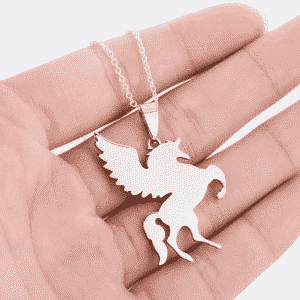Unicorn Necklace Silver Sterling