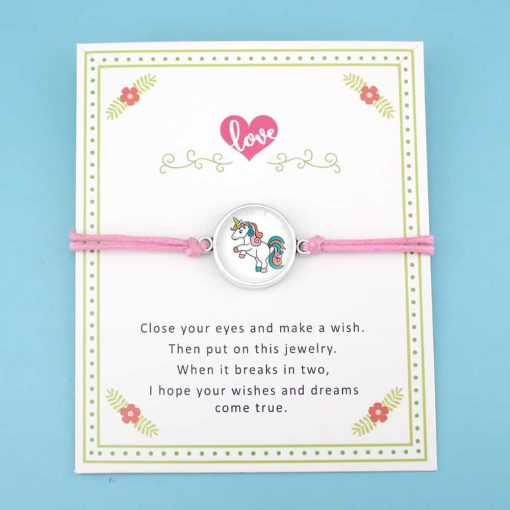 Unicorn Bracelet Pink Friendship