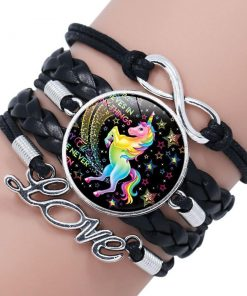Unicorn Bracelet Black