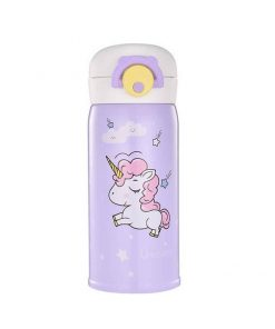 Unicorn Water Bottle Purple Stainless Steel
