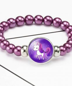 Unicorn Bracelet Burgundy Beads