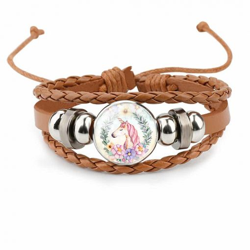 Unicorn Bracelet Brown Wrap