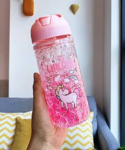 Unicorn Water Bottle Glitter
