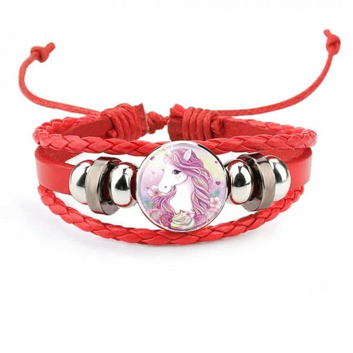 Unicorn Bracelet Red Wrap