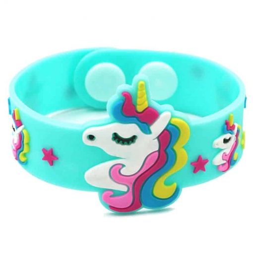 Unicorn Bracelet Green Rubber