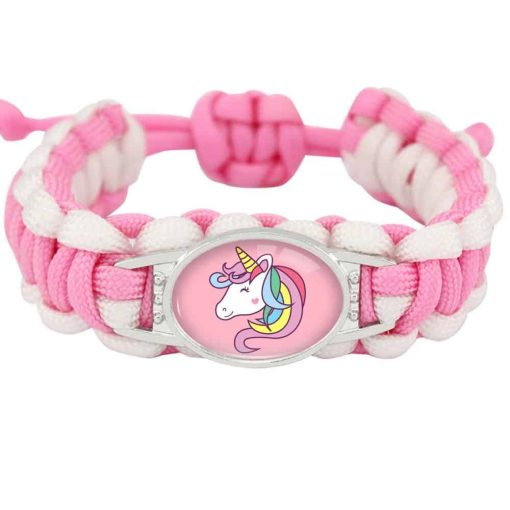 Unicorn Bracelet Paracord White And Pink