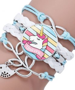Unicorn Bracelet Blue And White
