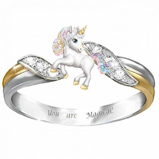 Unicorn Ring Gold And Silver