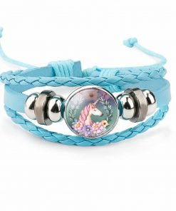 Unicorn Bracelet Blue Wrap