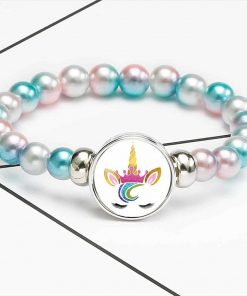 Unicorn Bracelet Eyes Beads