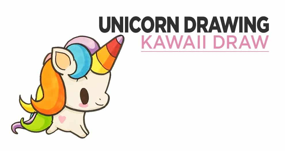 Easy Kawaii Unicorn Drawing