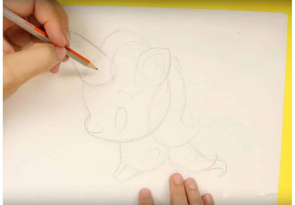 Kawaii Unicorn Drawing Step 8