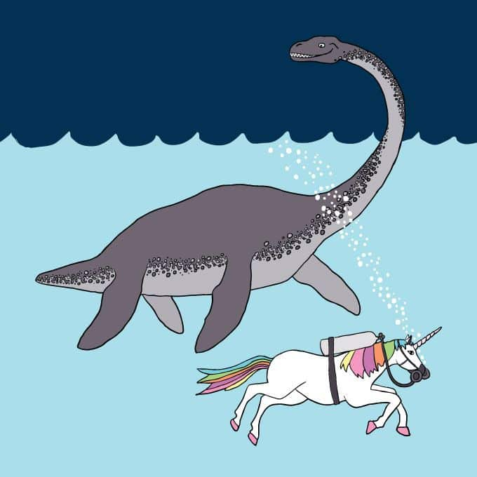 Unicorn And The Monster Of The Loch Ness