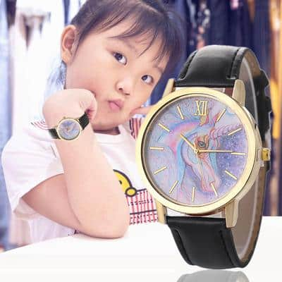 Black Unicorn Watch For Girls