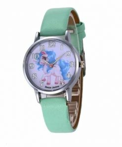 Unicorn Green Leather Watch