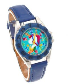 Unicorn Dark Blue Watch For Girls
