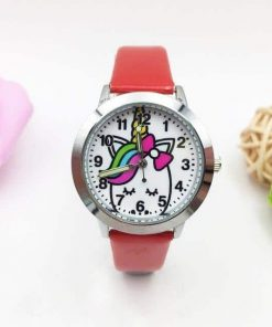 Unicorn Red Watch Kids