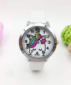 Unicorn White Leather Watch Kids