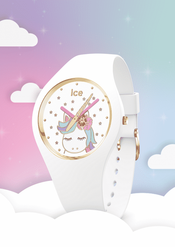 White Unicorn Watch With A Good Strap Finition