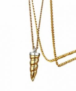 Necklace Horn Of Unicorn Gold At Sell