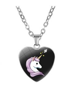 Necklace Unicorn Black Objects Unicorn At Price Minis