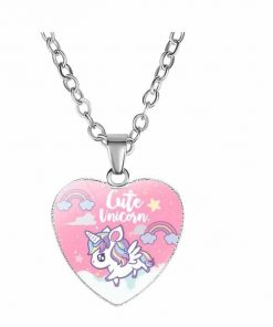 Necklace Unicorn Cute Pink At Sell