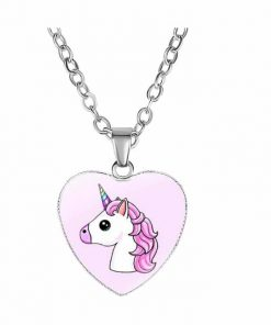 Necklace Unicorn Emoji Kawaii
