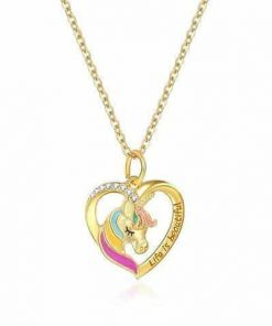 Necklace Unicorn Gold Girl Buy