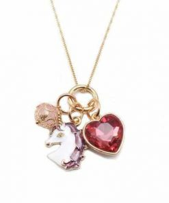 Necklace Unicorn Heart Emerald Buy