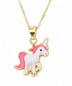 Necklace Unicorn Kawaii Golden Objects Unicorn At Price Minis