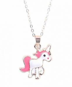 Necklace Unicorn Pendant Pink Price